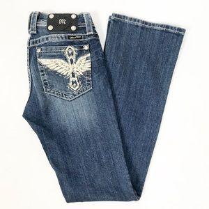 Miss Me Bootcut Cross Wing Pocket Jeans